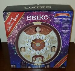 Seiko Swarovski Melody in Motion Wall Clock- 24 Melodies - Collector's Edition