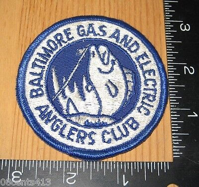 Baltimore Gas and Electric Anglers Club Circle Cloth Patch Only