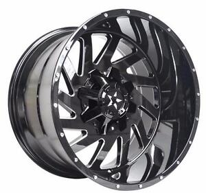 NEW!! 20x10 , 22x12, 22x14 AND 24x12 INCH AVAILABLE!! 5 AND 8 LUG DIFFERENT FINISHES AVAILABLE!