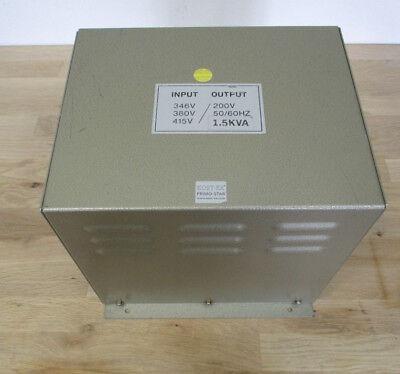 Trafo Transformator   pri 346  380  415 V    sek  200 V     1,5  KVA    T10/307