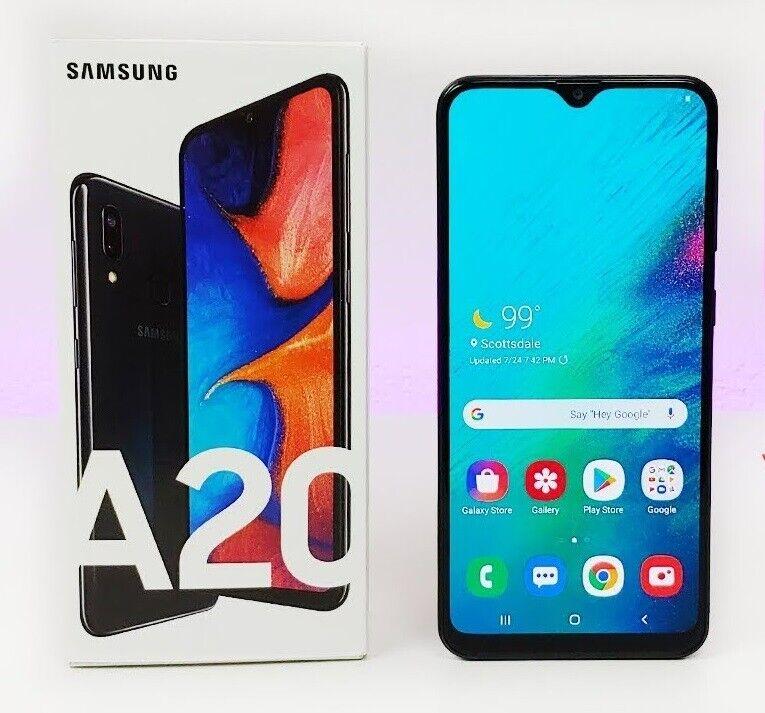 Android Phone - UNLOCKED Samsung Galaxy A20 SM-A205U 6.4-Inch 32gb GSM + CDMA Unlock Smartphone