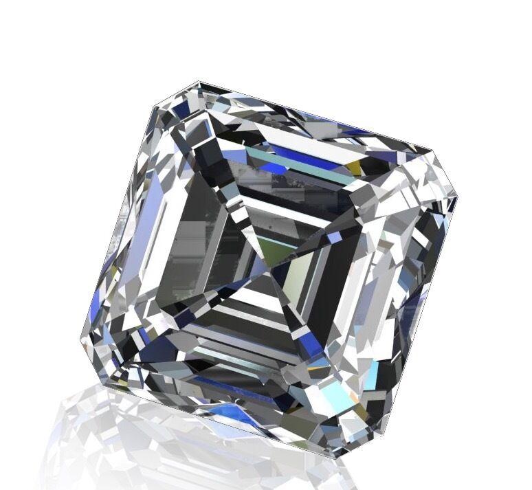 GIA Certified 1.66ct Asscher Cut G VVS2 Square Emerald Loose Diamond Engagement