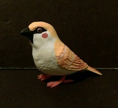 Suzume Collection ( Like Kaiyodo ) Yellow Eurasian Tree Sparrow Bird Figure D