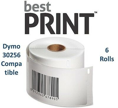 6 Rolls Of 300 Labels 2 516 X 4 For Dymo Labelwriter 30256 Compatible