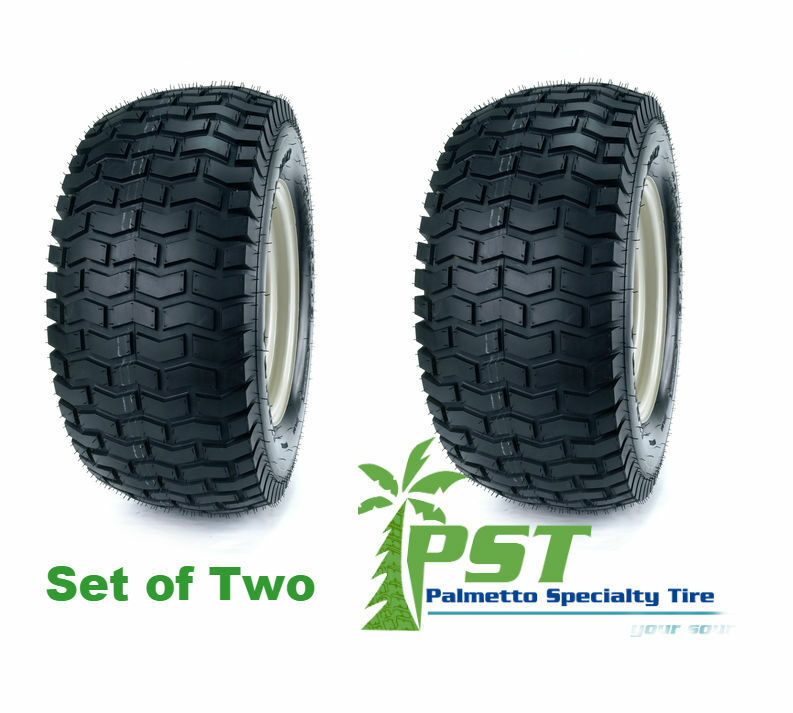 TWO 15X6.00-6 Turf Lawn Mower 15X6-6 P332 Tractor Mower Set of Two Tires