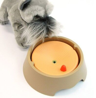 YOGI Automatic Clean Up-Down Powda Water Bowl f/ Pet Dog Puppy Cat Kitten Rabbit