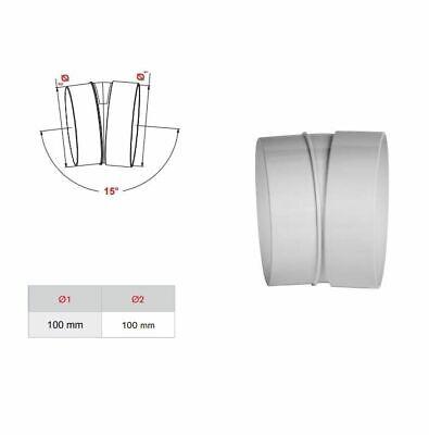 Ventilación Conducto Codo 100mm/15 Grados Tubo Codo Acoplador