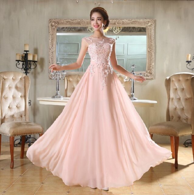 Long Chiffon Evening Formal Party Ball Gown Prom Bridesmaid Dress | eBay