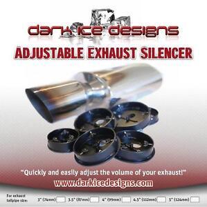adjustable volume 4 car exhaust silencer baffle db killer. Black Bedroom Furniture Sets. Home Design Ideas