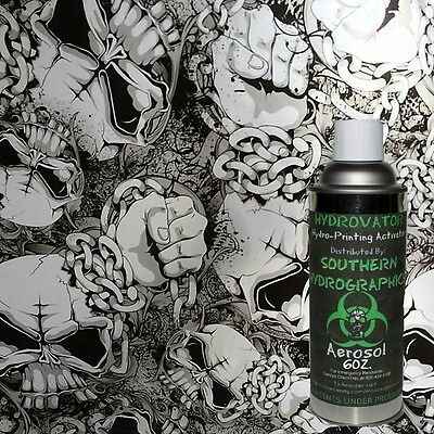 Hydrographic Film Water Transfer Hydro Dip 6oz Activator With Black Skull Kit
