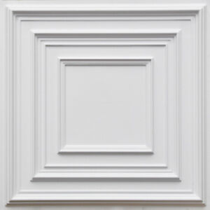 PVC Decorative Ceiling Tile 2'x2' (25/pack)- White #222 Drop-in/Glue-up