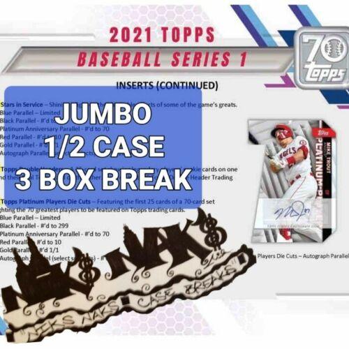 CHICAGO WHITE SOX 2021 TOPPS SERIES 1 BASEBALL JUMBO 1/2 CASE 3 BOX BREAK 10 - $54.02