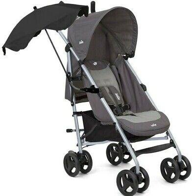 Joie Nitro Boys Girls Grey Black Stroller Buggy inc Raincover & Free Parasol