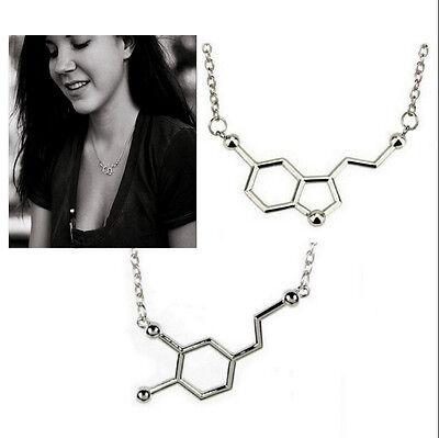 Charm Molecule Necklace Pendant Biochemistry Biochem Serotonin Dopamine Caffeine