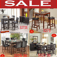 dining room sets, nesting tables, leather chair, kitchen sets