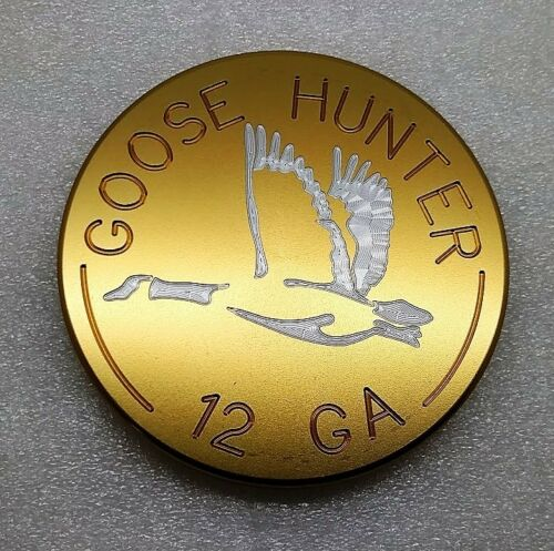 "Goose Hunter, Billet Aluminum Hitch Cover Plug,Gold Anodized,4"" Round"