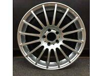"x4 18"" Mercedes C63 Style Alloy Wheels Silver A B C CLA Class 8J 1052"