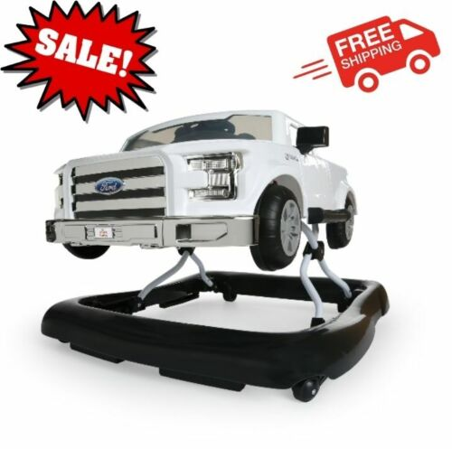 3 Ways to Play Ford F-150 Baby Walker with Activity Station, White NEW