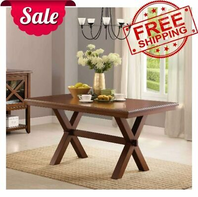 Maddox Crossing Dining Table Traditional Minimalist Furniture Home NEW