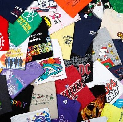 Lot of 5 Random Men's Graphic Tees T-Shirts all size Medium