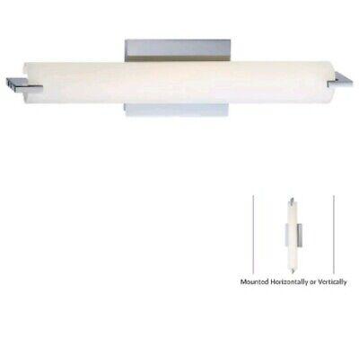 George Kovacs P5044-077-L Tube Chrome LED Bathroom Vanity -