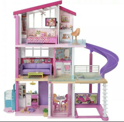 Barbie Dreamhouse Dollhouse with Pool, Slide and Elevator(preowned)