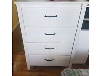 Chest of drawers: White IKEA