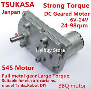 Japan takanawa strong torque gear motor 6v 12v 24v dc for Best dc motors for robots