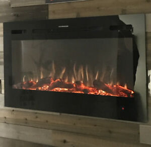 Electronic fireplace sale as low as $593