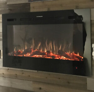 Electronic Fireplace with Led lighting blow out sale