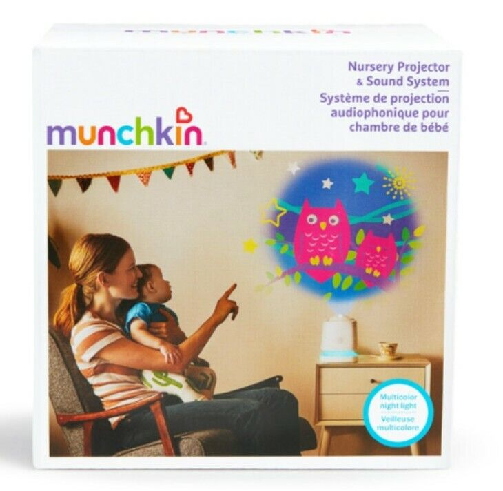 Munchkin Nursery Projector And Sound System And LED Nightlight