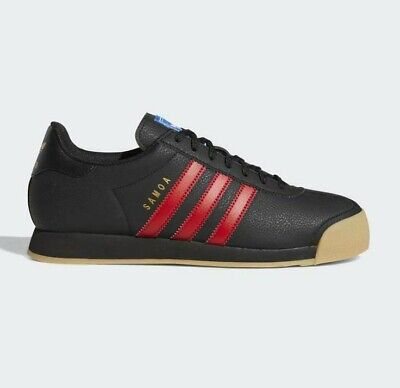 adidas Originals Samoa Black/Red Vintage Trainers 80's Training Shoes All Sizes