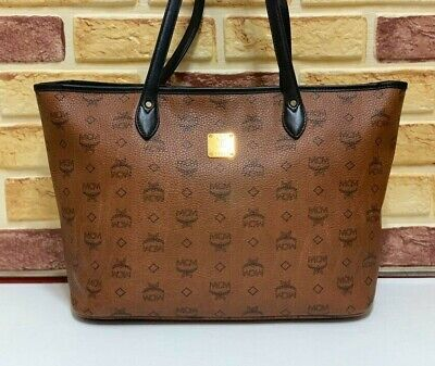 100% Authentic MCM Brown Shopper Shoulder Bag