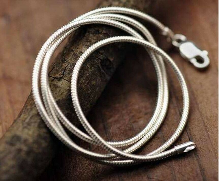 925 Silver Sterling 1mm Solid Snake Chain Necklace Rope Pendant Bracelet UK