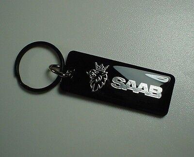 Saab Key Chain Black / Chrome