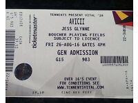Tennents vital Tickets for sale for Avicci