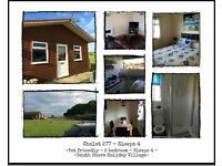 Holiday Chalet to rent not caravan, Bridlington, South Shore, 2 and 3 bedroom, Seaside