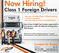 Foreign Class 1 Drivers
