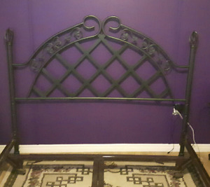 Heavy duty bed frame and headboard