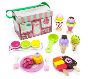 New Wooden Traveling Ice Cream Parlor for Kids Ages 3 and Up