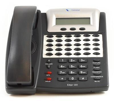 Fully Refurbished Comdial Dx-120 7261 Edge Speaker Display Phone Black