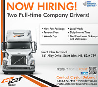 Full Time Local Company Drivers