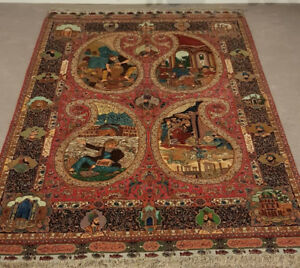 Antique Persian Tabriz Rug-Hand Knotted