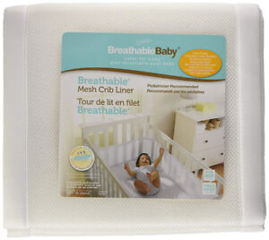 Brand new Breathable Baby Mesh Crib Liner, White & pink