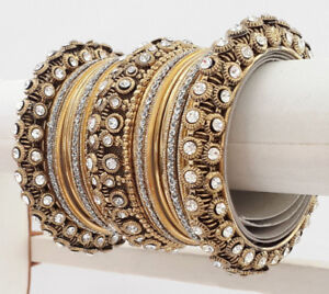 """INDIAN BANGLES + BRACELET - BRAND NEW SETS - SIZES 2.4"""" and 2.6"""""""