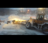 Snow removal plowing
