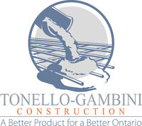 Snow plowing and removal. 24/7 service! Tonello-Gambini Const.