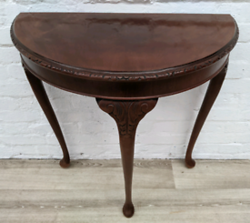 Queen Anne Style Half Moon Table (DELIVERY AVAILABLE)