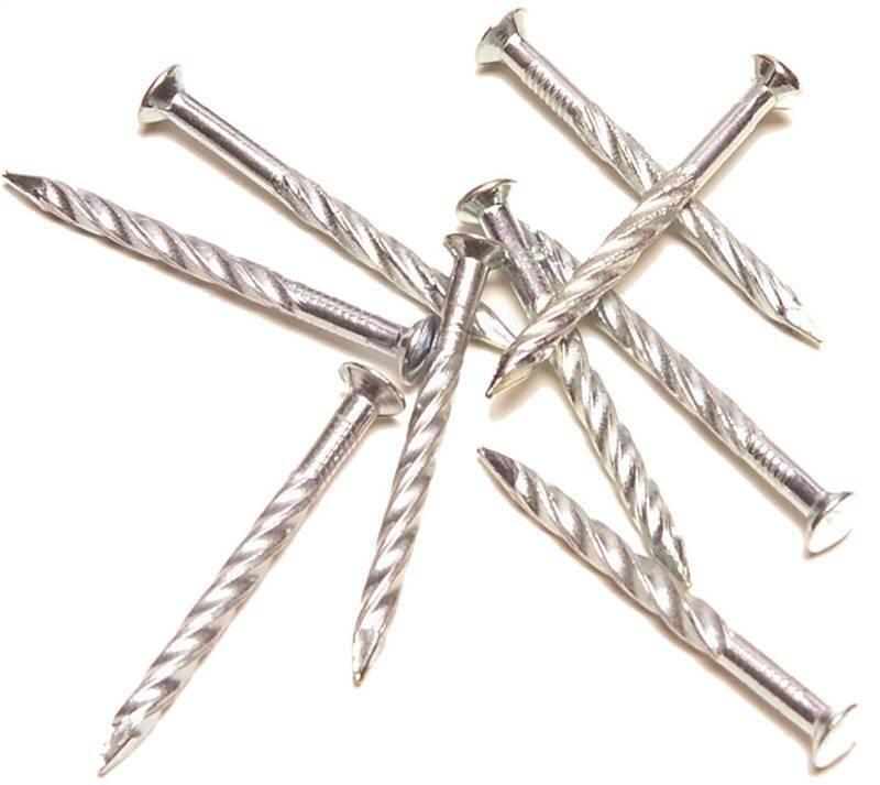M-D 21501 Floor Trim Fasteners, Silver Screw Nail, #13, 1-1/4 in L, 12 Count