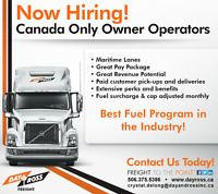 Canada Only Owner Operators